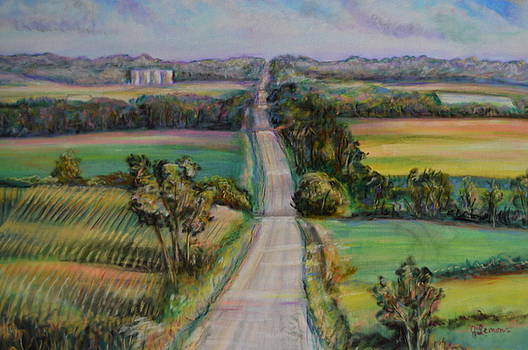 Country Road Across the Hills by Julie Lemons