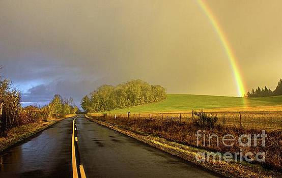 Country Road Rainbow by Michael Cross