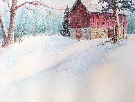 Country Snowscape by Carolyn Rosenberger