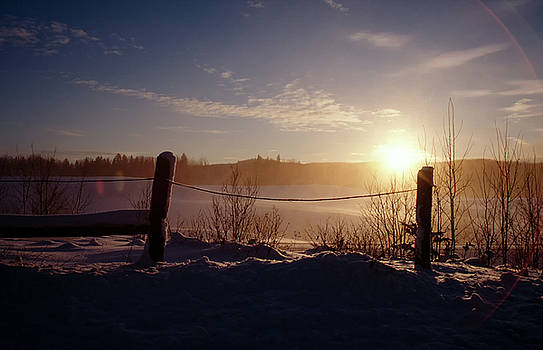 Country winter sunset by Peter Pauer