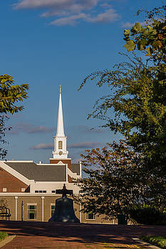 County Courthouse Bell and Church Spire by Ed Gleichman