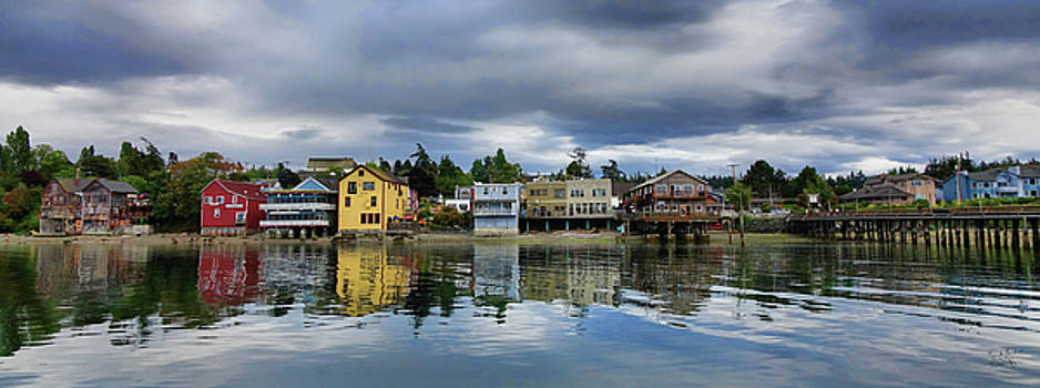 Coupeville in Reflection by Rick Lawler