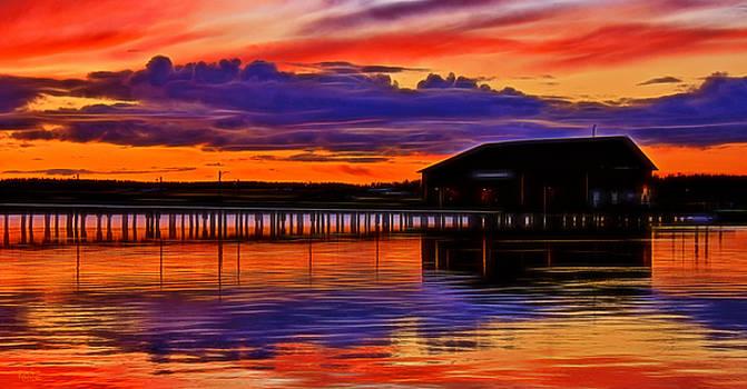 Coupeville Wharf Digital Art by Rick Lawler