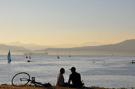 Couple in English Bay by Caroline Reyes-Loughrey