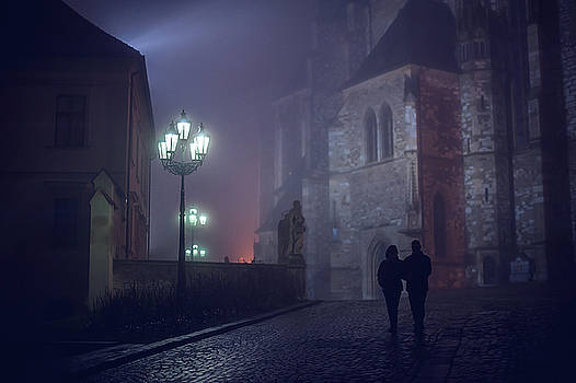 Couple in Misty Night. Gothic Age by Jenny Rainbow
