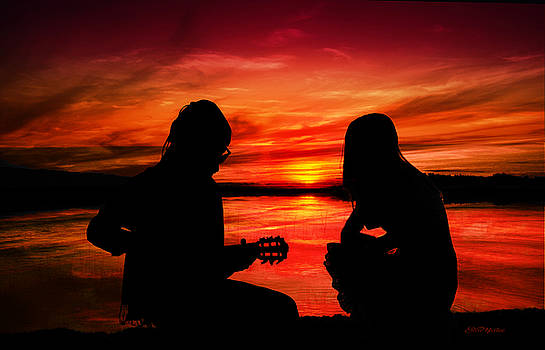 Couple in the Sunset by Ericamaxine Price