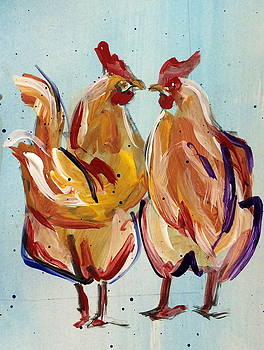 Couple of Hens by Mary Gallagher-Stout