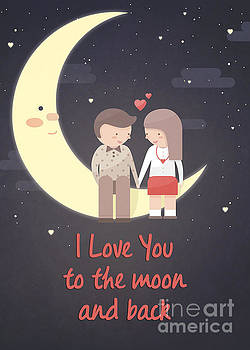 Couple on the Moon by JH Designs