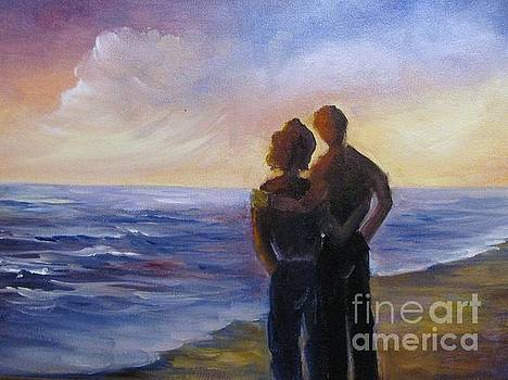 Couple Seaching by Barbara Haviland