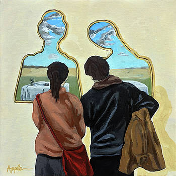 Couple with Their Heads Full of Clouds by Linda Apple