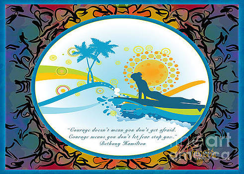 Omaste Witkowski - Courage In Action Abstract Surf Art by Omashte