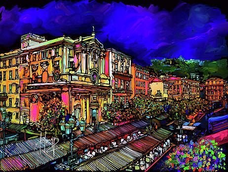 Cours Saleya, Nice, France by DC Langer