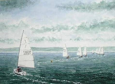 Course to Steer - Storm Approaching by Peter Farrow