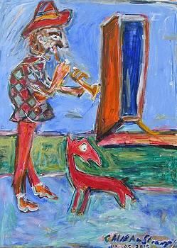 Courtesan and Dog by Caliban Strange