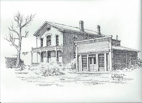 Courthouse and Skinners Saloon Bannack Montana by Kevin Heaney