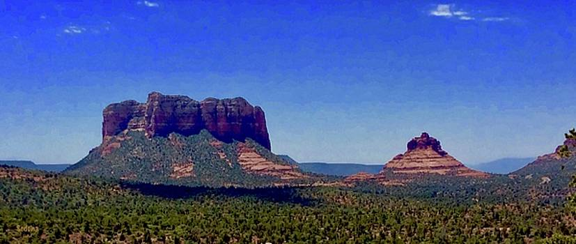 Courthouse Butte Sedona by Lorna Maza