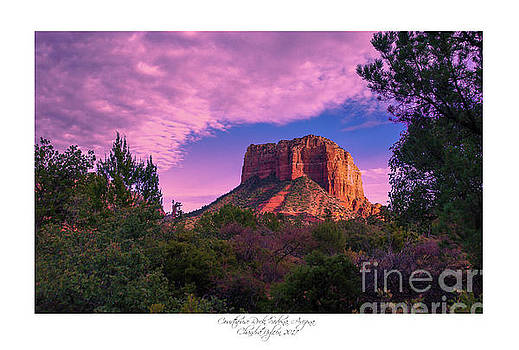 Courthouse Rock Sedona 1 by Chandra Nyleen
