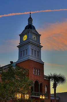 Paula Porterfield-Izzo - Courthouse Steeple at Night