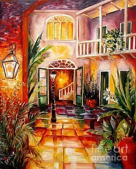 Courtyard by Lamplight by Diane Millsap