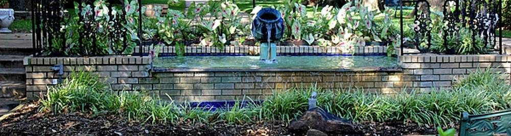 Courtyard Fountain by Janet K Wilcox