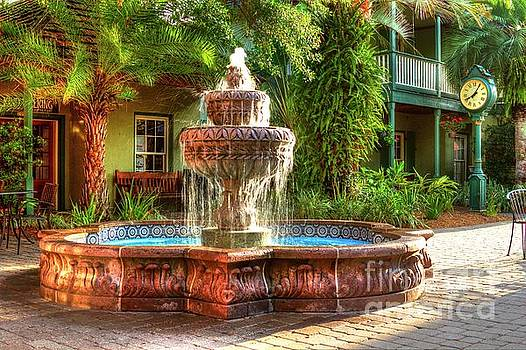 Courtyard Fountain St Augustine Florida  by C W Hooper