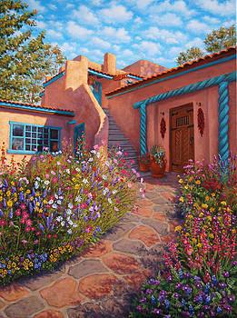Courtyard Garden in Taos by Johanna Girard