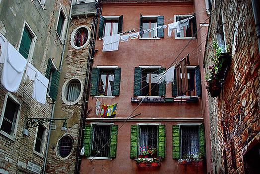 Courtyard Venice Italy by John Gilroy
