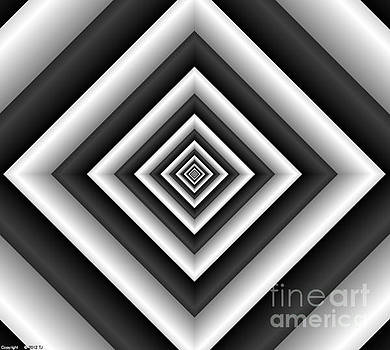 Covariance  6 Modern Geometric Black White by TJ Art