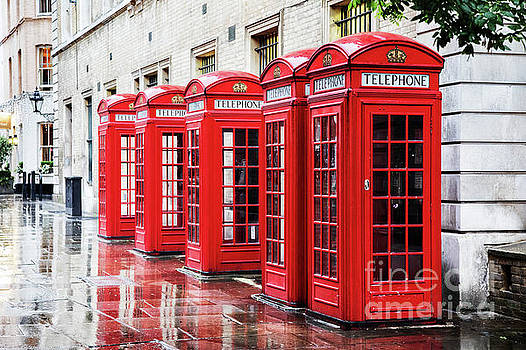 Covent Garden phone boxes by Jane Rix