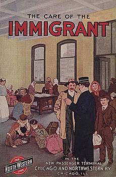 Chicago and North Western Historical Society - Cover for the Care of the Immigrant - 1912