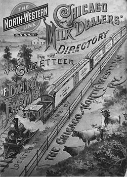 Chicago and North Western Historical Society - Cover Illustration of Chicago Milk Dealers Directory