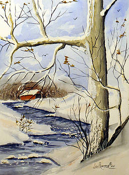 Covered Bridge in a Winter Wonder Land by Joe Prater