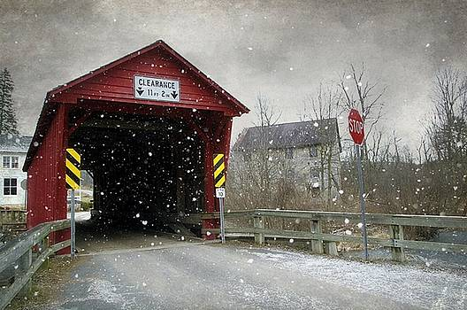 Covered Bridge in Logan Mills by Stephanie Calhoun