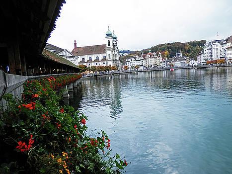 Covered Bridge in Lucerne by Pema Hou