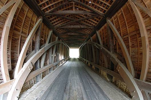 Covered Bridge Interior by Jon Benson