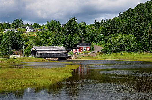 Reimar Gaertner - Covered bridge over the Irish River in St Martins New Brunswick