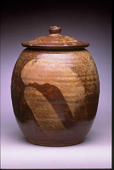 Stephen Hawks - Covered Jar with Titanian Slip