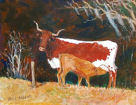 Cow and Calf by Bill Roberts