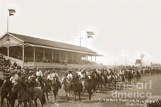 California Views Mr Pat Hathaway Archives - Cow boy parade Big Week Salinas circa 1920