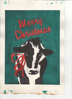 Cow Christmes by Jeanne Liander