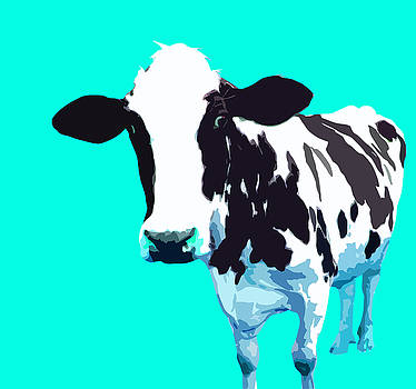 Cow in a Aqua World by Peter Oconor
