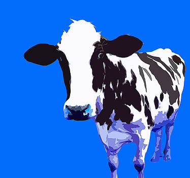 Cow in a Light Blue World by Peter Oconor