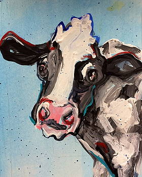 Cow In Blue by Mary Gallagher-Stout