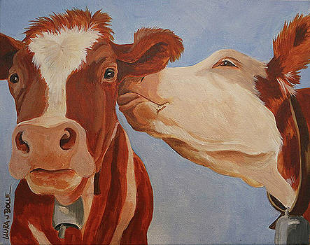 Cow kiss by Laura Bolle