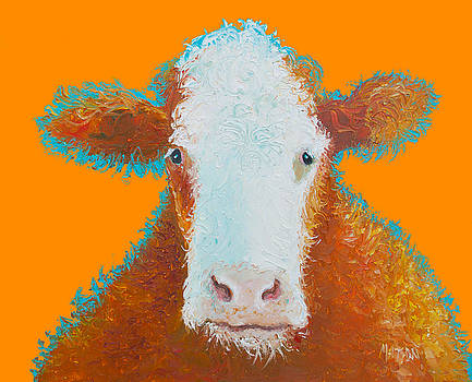 Jan Matson - Cow Painting - Brown Hereford