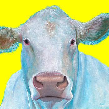 Jan Matson - Cow painting - Charolais cattle