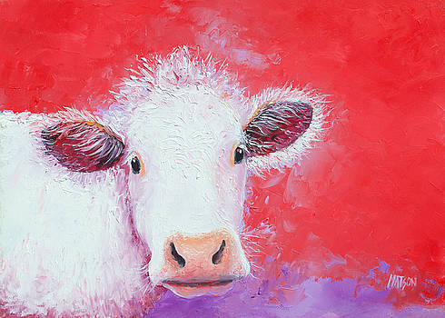 Jan Matson - Cow painting - Charolais