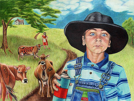Cow Tagging by Jackie Little Miller