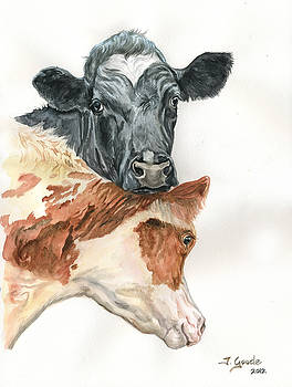 Cow with heart by Jana Goode