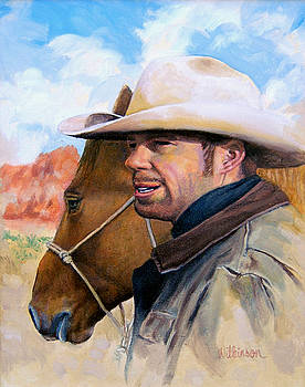 Cowboy and His Horse by Ronald Wilkinson